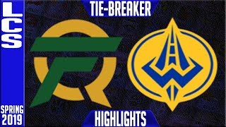 FLY vs GGS TIE BREAKER Highlights | LCS Spring 2019 Week 9 Day 2 | FlyQuest vs Golden Guardians