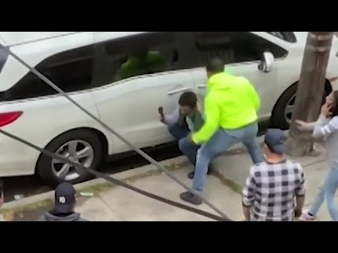 Road Rage Attack Caught on Camera in Queens | NBC New York