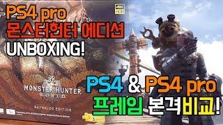 PS4 Pro 몬스터헌터 에디션 & 프레임비교