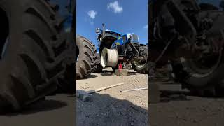 When Thor isn't out saving the world, he's changing tractor tires... 🤯 #shorts