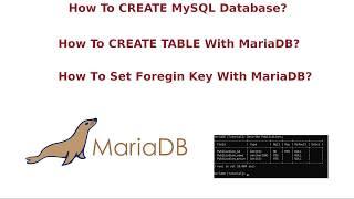 MySQL MariaDB, Wie Tabelle Erstellen ? l MySQL, MariaDB, Wie Datenbank Erstellen