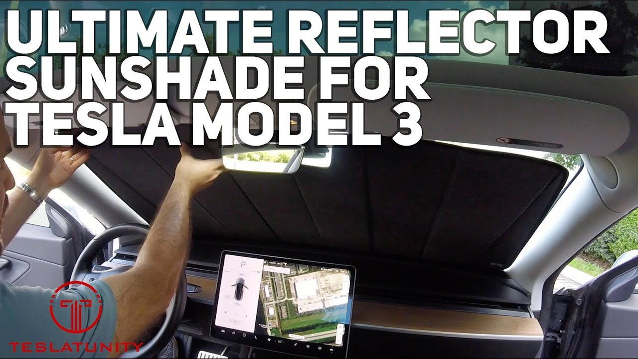 Ultimate Reflector Sunshade For Tesla Model 3
