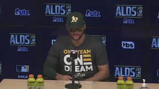 Chad Pinder on Oakland Athletics comeback victory in ALDS Game 3 against Houston Astros
