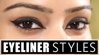 4 Different Eyeliner Tutorial | Eyeliner Styles | D.I.Y Eyeliner Tutorial | Makeup Tutorial