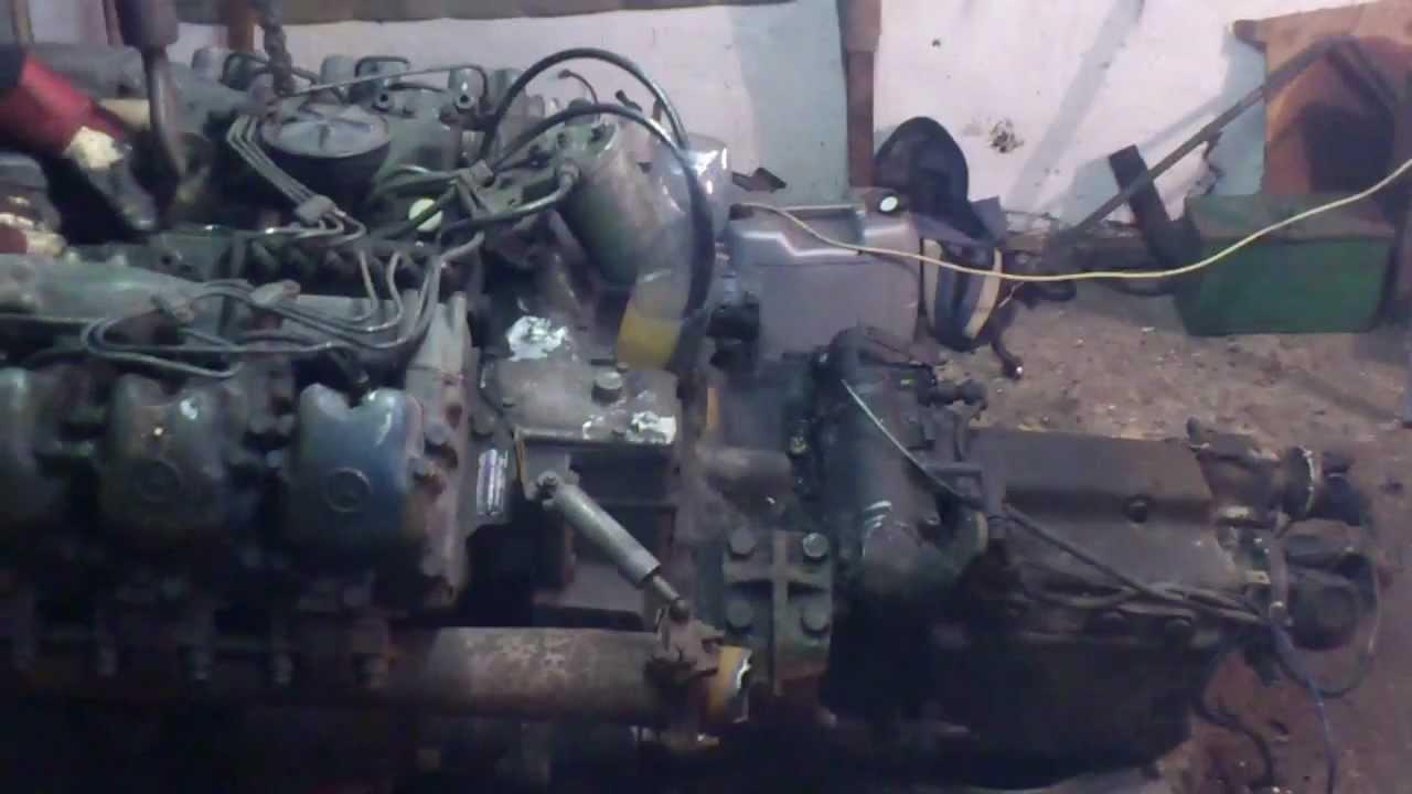 Mercedes om 421 diesel engine first start youtube for Mercedes benz marine engines