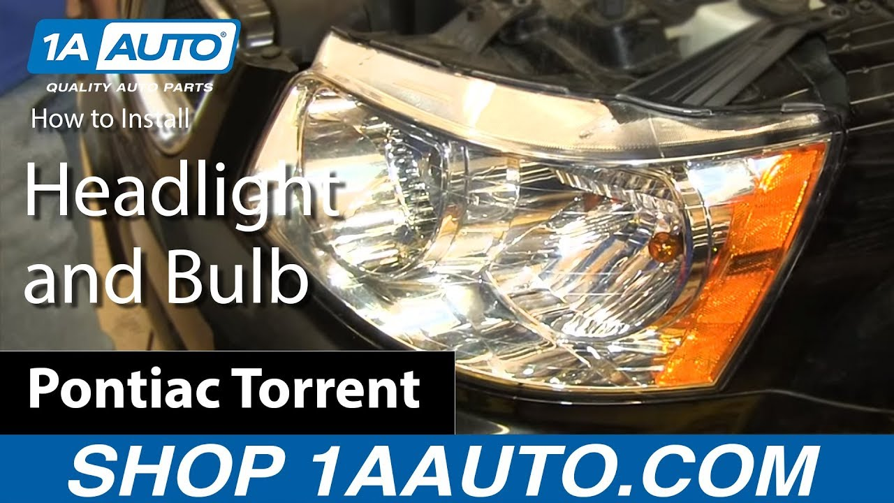 how to install change replace headlight and bulb 2006 09 pontiac torrent [ 1280 x 720 Pixel ]