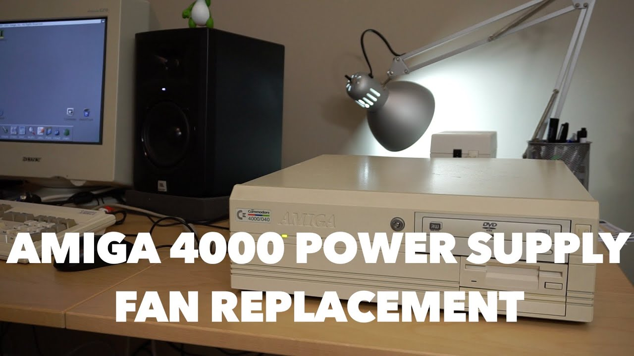 Amiga 4000 Power Supply Fan Replacement With A Surprise