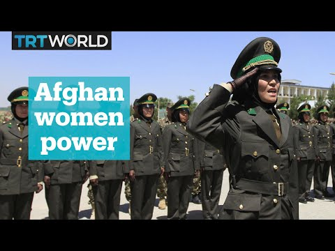 Afghan women train at Indian military academy