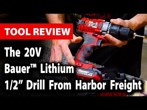 """Tool Review: The 20V Bauer™ Lithium 1/2"""" Drill From Harbor Freight"""