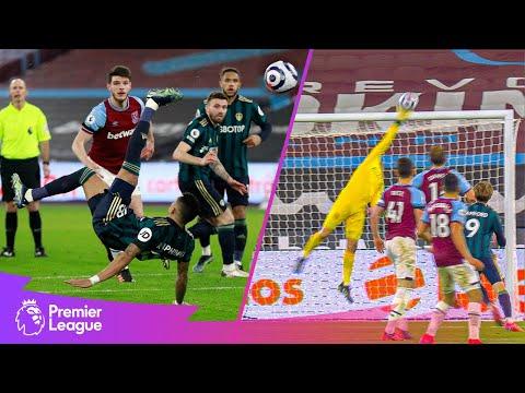 INCREDIBLE Fabianski save denies Raphinha overhead kick! | BEST Premier League saves | March