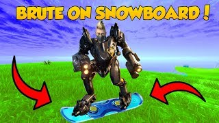 *GLITCH* BRUTE ON SNOWBOARD! - Fortnite Epic and Funny Moments! #5
