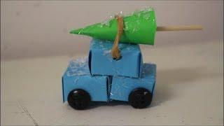 DIY: Auto mit Tannenbaum / Weihnachtsdeko basteln / Deko Ideen zum selber machen