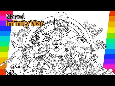 Marvel Avengers Infinity War | How To Draw | Painting Ironma