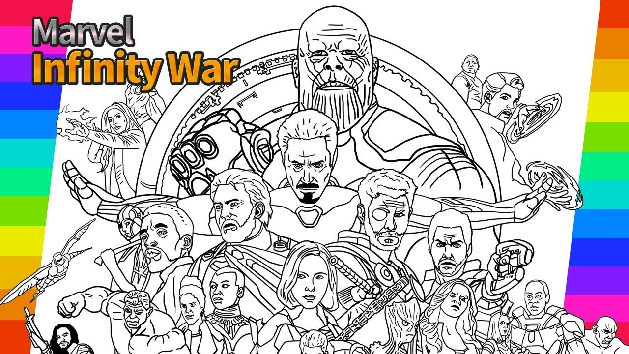 Marvel avengers infinity war how to draw painting ironman hulk tor drawing and coloring pages
