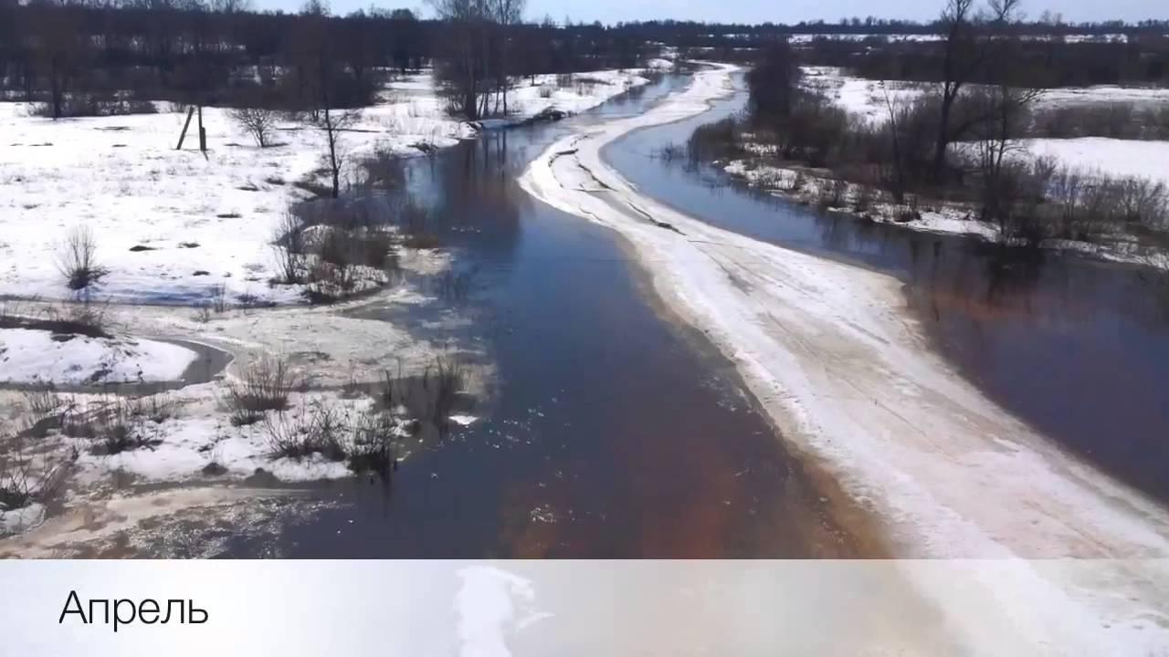 Московская область. Река Нерская весной и летом