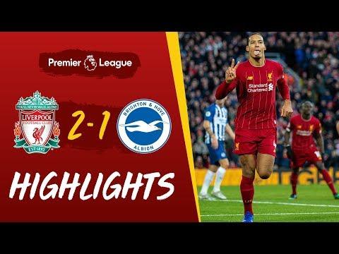 Liverpool 2-1 Brighton | Van Dijk headers see off Brighton | Highlights