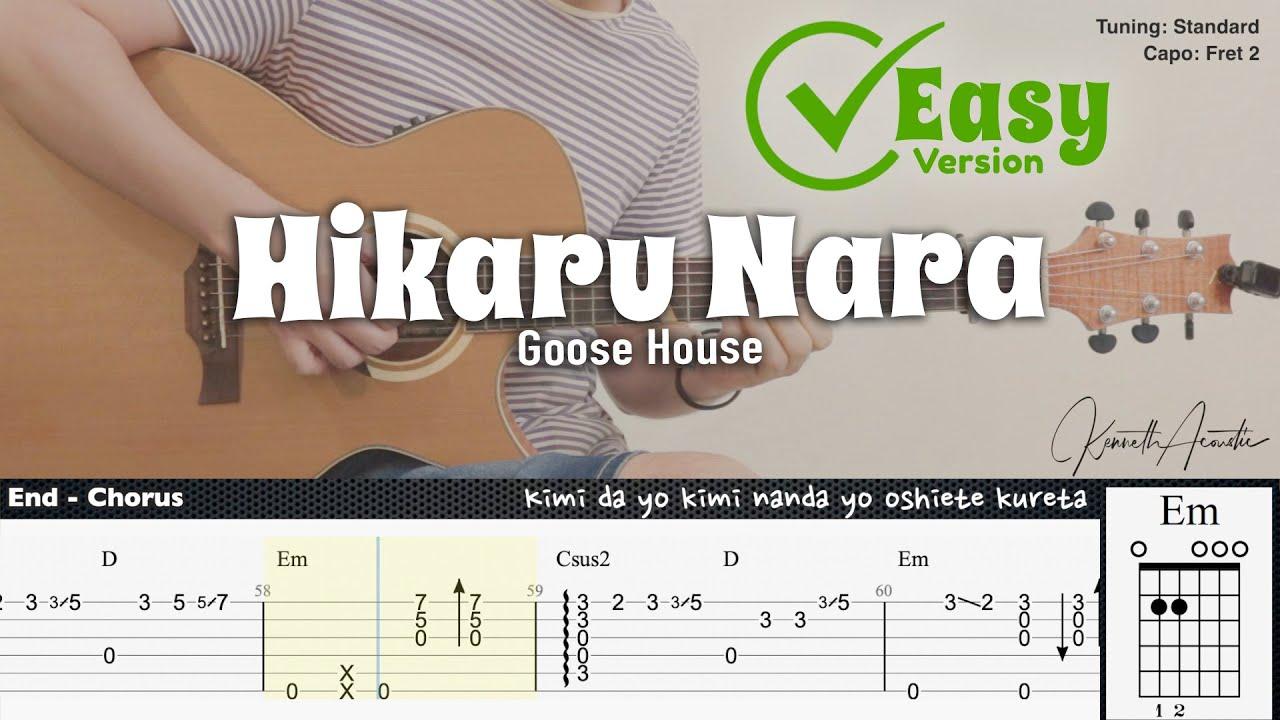 (FREE TAB) Hikaru Nara (Easy Version) - Goose House   Fingerstyle Guitar   TAB + Chords + Lyrics