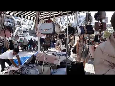 Open market shopping in Rotterdam