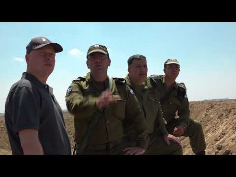 Jason Greenblatt spent a day touring the Gaza border, August 30, 2017