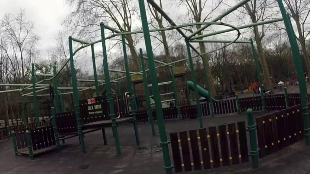 Playground At Jardins Du Luxembourg In Paris Youtube