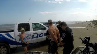 Crazy COP calls for backup on beach, you won't belive what happens next...