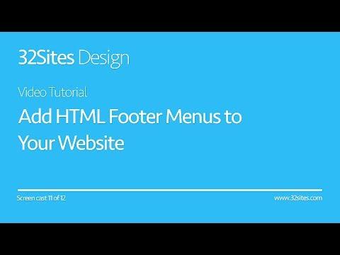 How To Add HTML Footer Menus To A Website | DIY Website Design Screencast: Part 11 Of 12