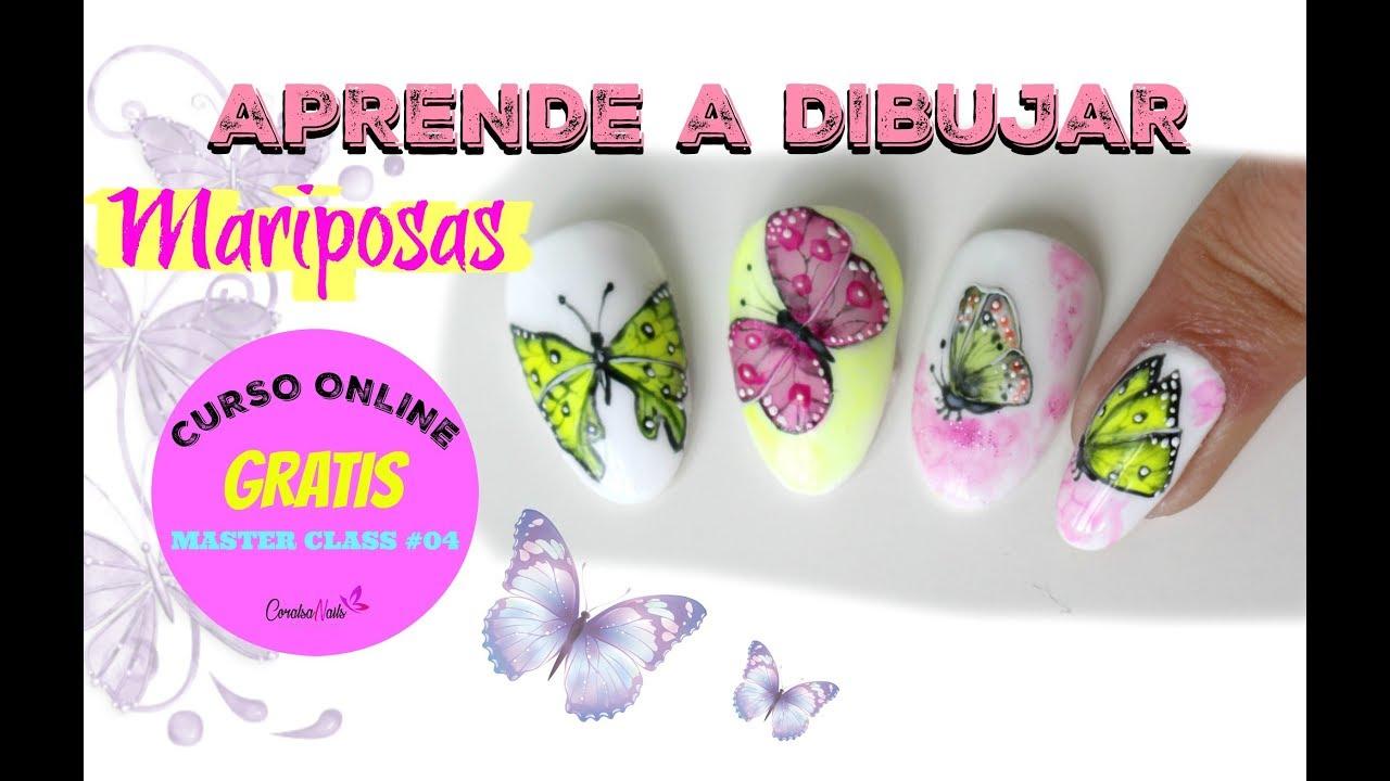 Uñas Decoradas Con Mariposas Paso A Paso Decoracion De Uñas 05