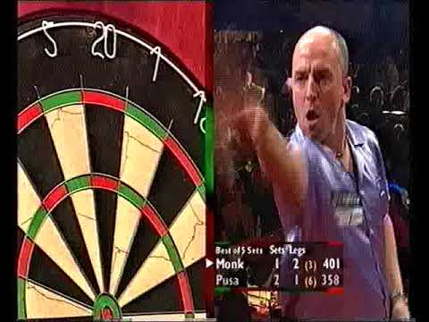 Monk vs Pusa Darts World Championship 2001 Round 1