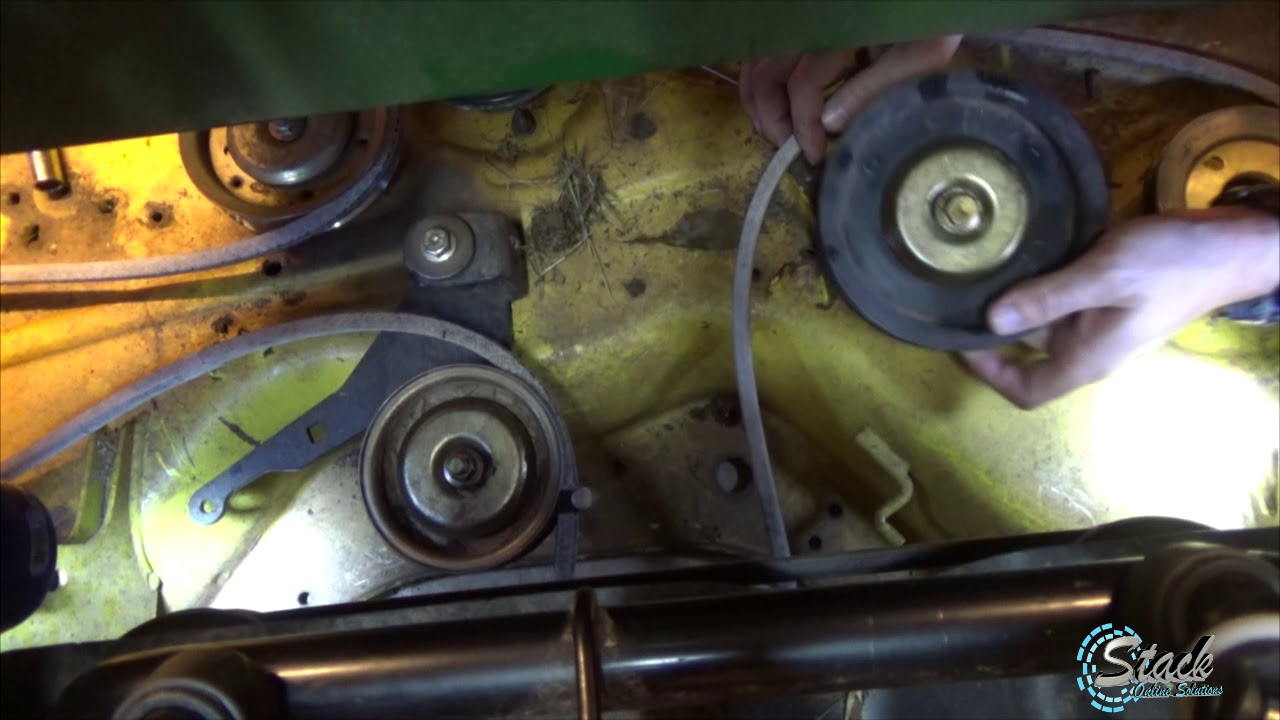 small resolution of how to john deere z425 54 inch belt replacement belt diagram z445