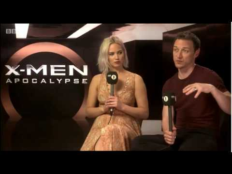 Jennifer Lawrence & James MCavoy Funny  Interview