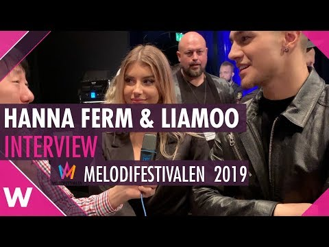 "Hanna Ferm & Liamoo ""Hold You"" Interview @ Melodifestivalen 2019 | wiwibloggs"