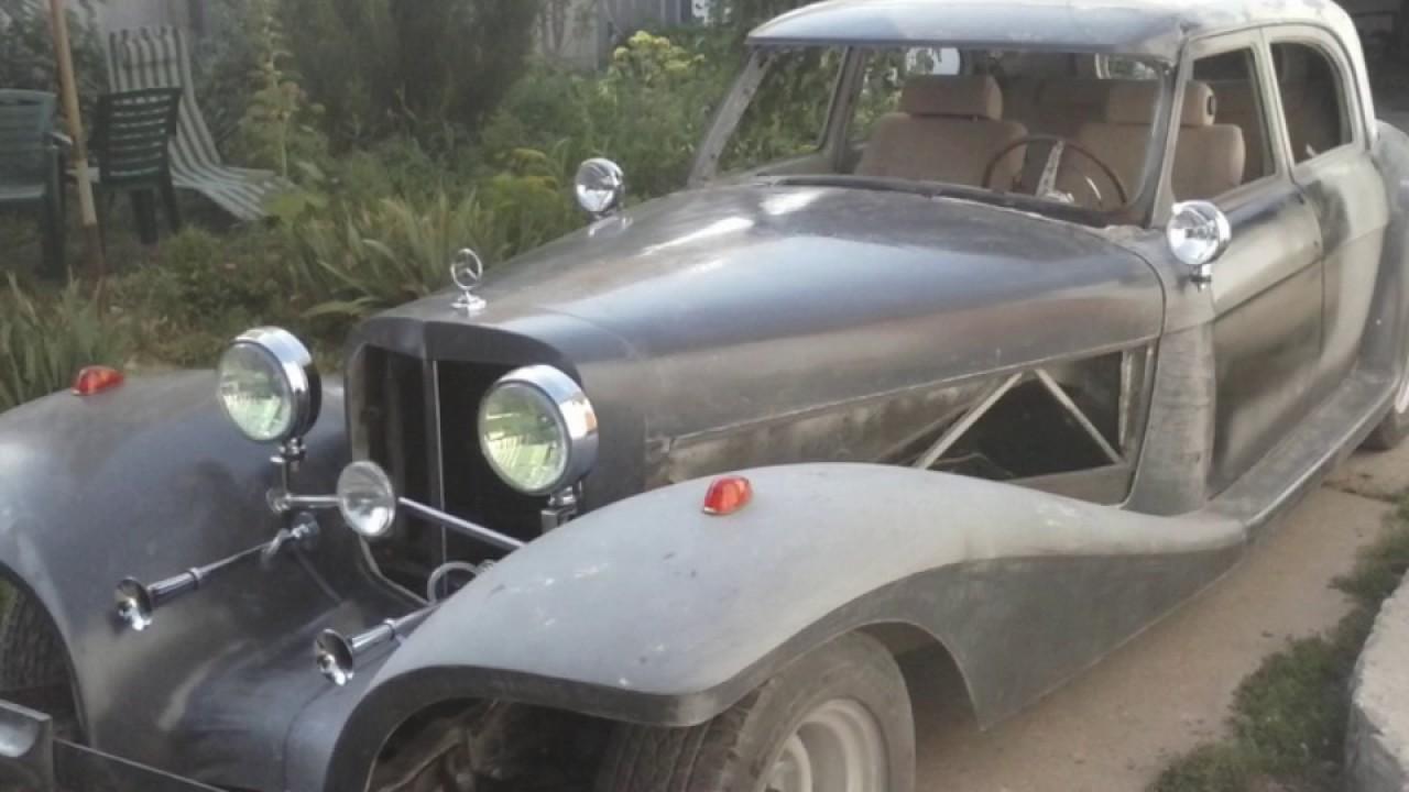 Amazing homemade retro car. Удивительный самодельный автомобиль.