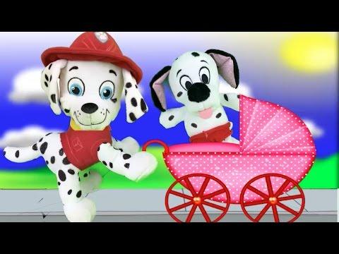 Patrulla canina juguetes español MARSHALL TIENE UN BEBE PAW PATROL CUIDAMOS AL NUEVO CACHORRO