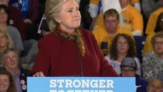 Clinton Hits Trump, Takes Aim at GOP Voters