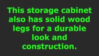 Brown entertainment storage cabinet