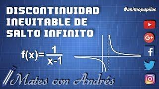 Discontinuidad inevitable de salto infinito en una función racional BACHILLERATO MATEMÁTICAS