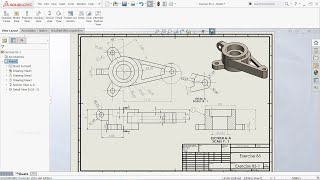 SolidWorks Drawing Tutorial View layout, Annotation, Sketch
