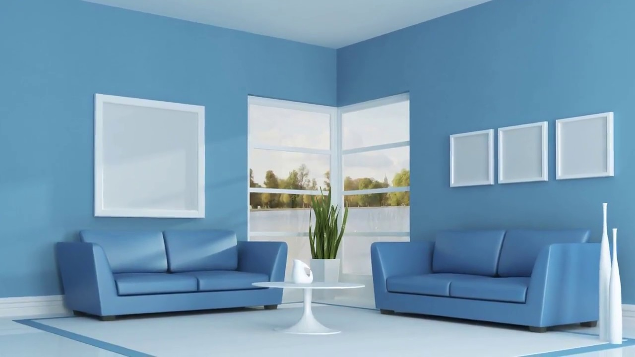 Interior wall painting colour combinations asian paints youtube for Wall designs for living room asian paints
