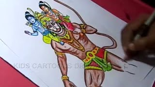 How to Draw Lord Rama Lakshmana and Hanuman Drawing Step by Step for Kids