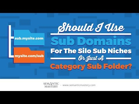 Should I Use Sub Domains For The Silo Sub Niches Or Just A Category Sub Folder?