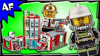 Lego City FIRE STATION 60110 Stop Motion Build Review