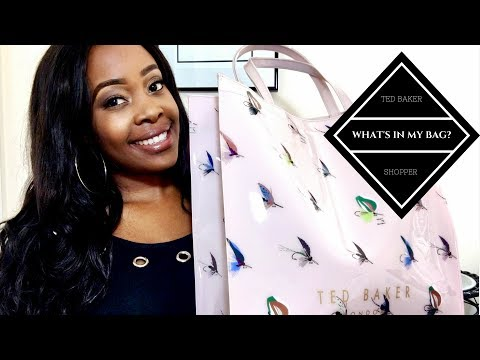 WHAT'S IN MY BAG? | TED BAKER SHOPPER 2017