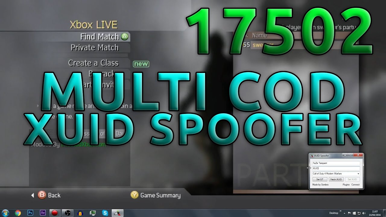 Sombra's Multi COD XUID Spoofer For 17502 | COD4-BO3 | +Download