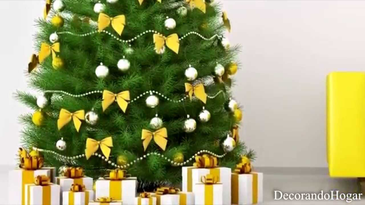 Decoraci n rbol de navidad amarillo tendencias decorar rbol youtube - Imagenes de arboles de navidad decorados ...
