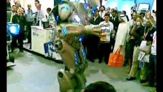 Very Surprising - Walking Robot during Dubai Gitex 2009