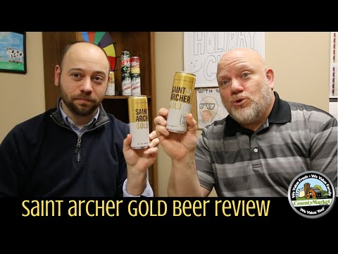 NEW Saint Archer Gold Beer Review | Low Calorie Low Carb Beer Taste