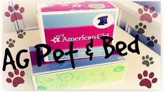 American Girl Doll Pet And American Girl Funky Pet Bed