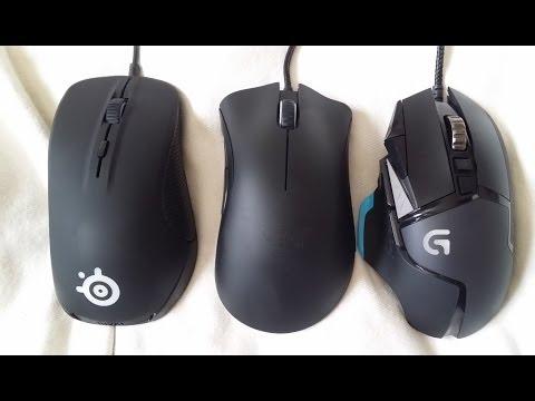 Gaming mouse showdown - Logitech G502 vs Razer Deathadder vs
