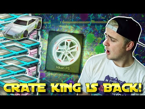 CRATE KING! | INSANE 20 VELOCITY ROCKET LEAGUE CRATE OPENING!
