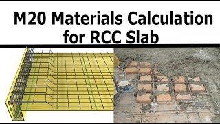 M20 materials calculation in RCC slab